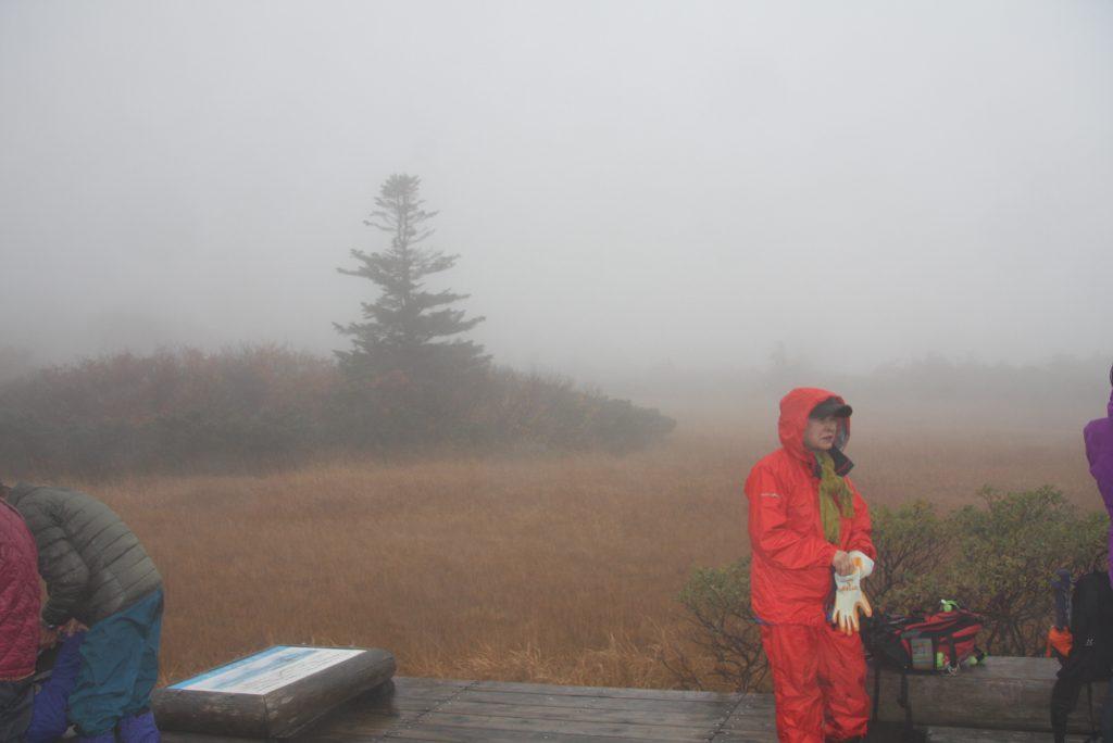 11月10日雪と霧の毛無岱