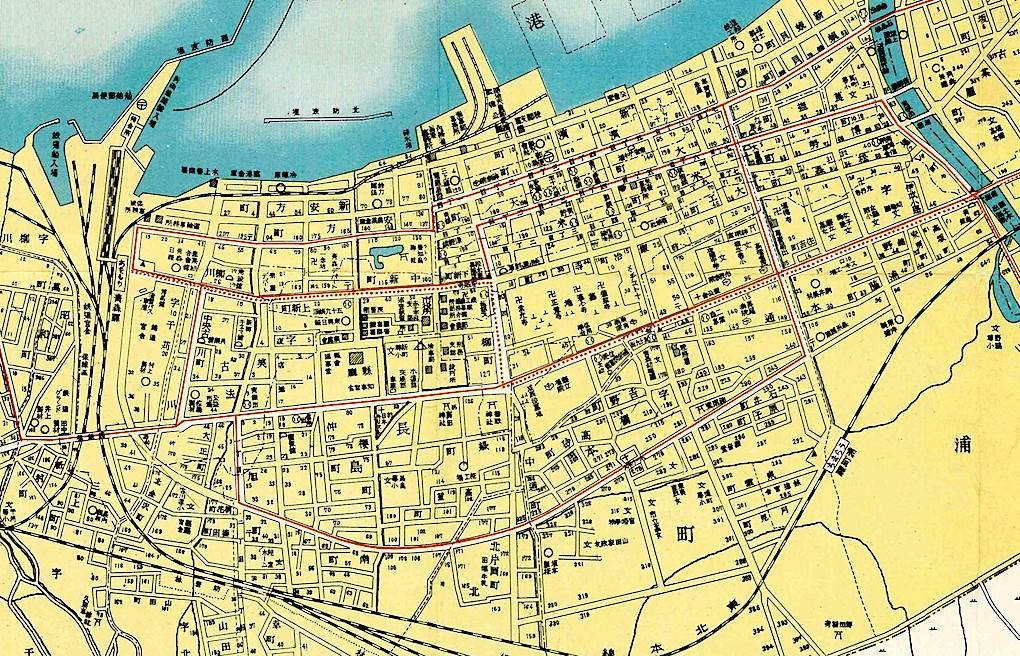 昭和13(1938)年の地図の一部