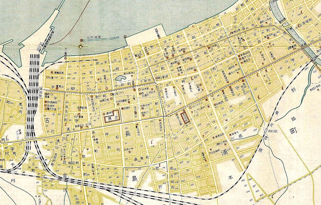 昭和25(1950)年の地図の一部