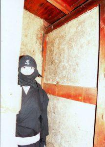 弘前市内にある伝「忍者の家」内部。 撮影:會田秀明氏