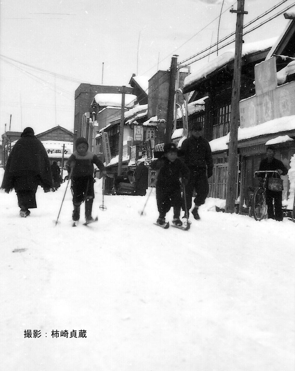 昭和15年頃の青森市柳町の街並み