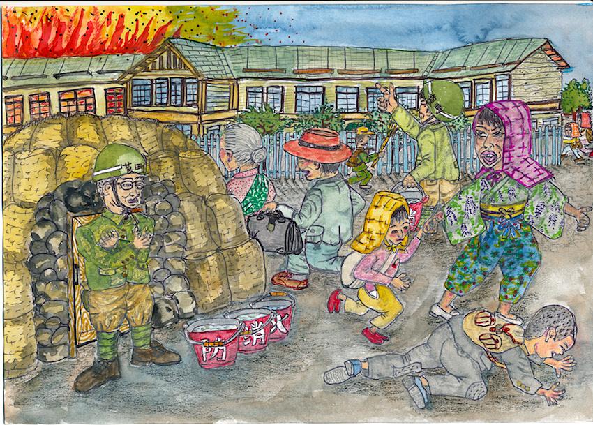 莨町小学校の防空壕