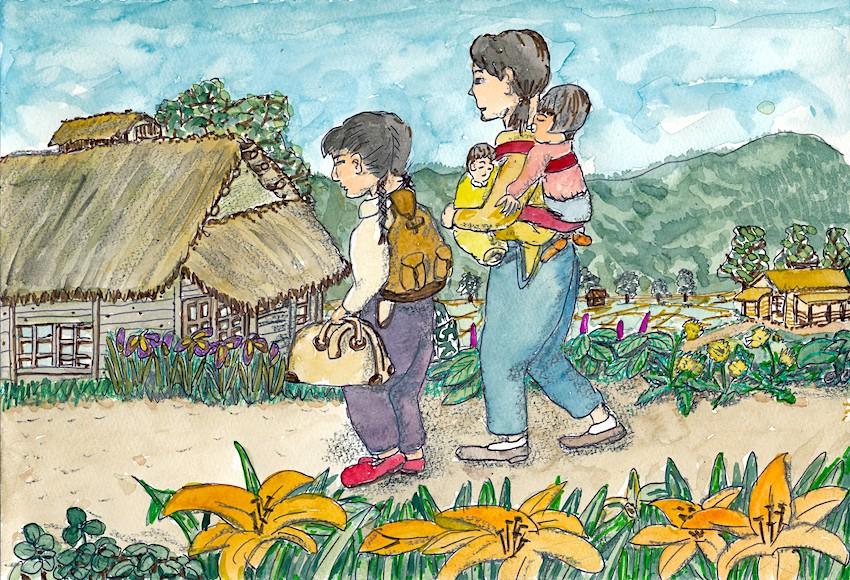 青森市から木造村へ疎開