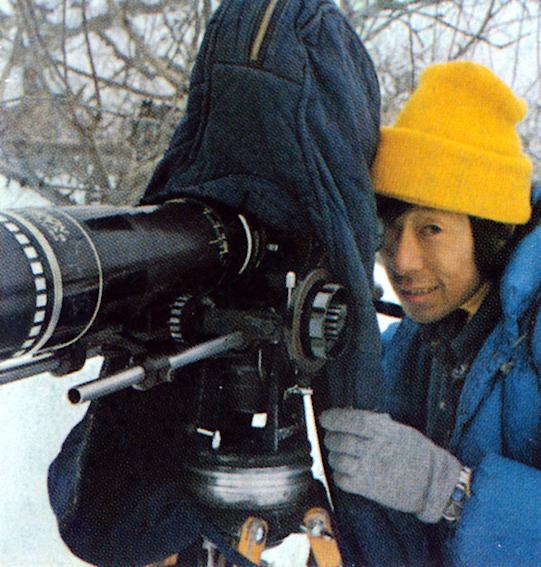 雪山での映画撮影時の藤巻健二さん