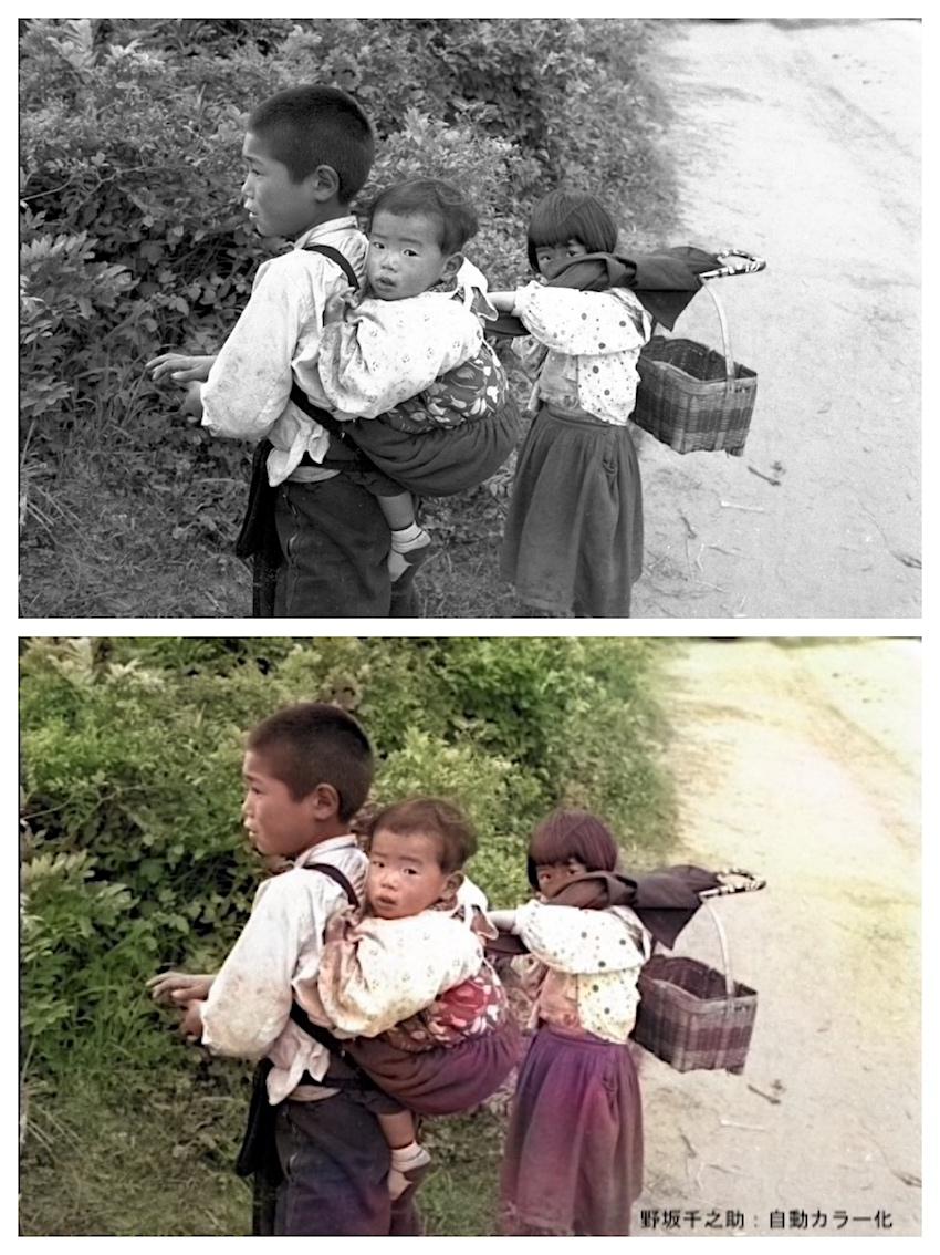 写真5 三兄妹 六ケ所村 昭和30年